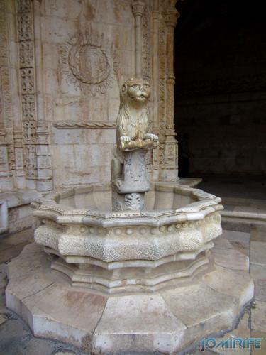 Lisboa - Mosteiro dos Jerónimos (9) Fonte do leão [en] Lisbon - Jeronimos Monastery - Lion fountain