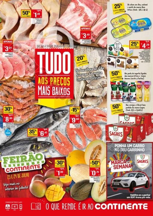 Antevisão Folheto CONTINENTE Promoções de 23 a