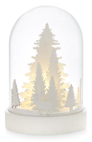 christmas scene bell jar decoration white,, €8 $