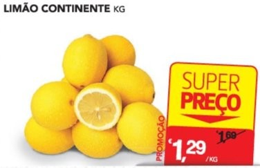 Acumulação Super Preço + 25% | CONTINENTE | Citrinos