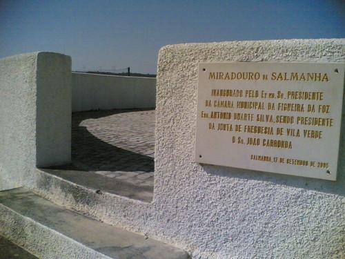 Miradouro da Salmanha: Placa (Figueira da Foz)
