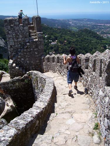 Sintra: Castelo dos Mouros - Pela muralha