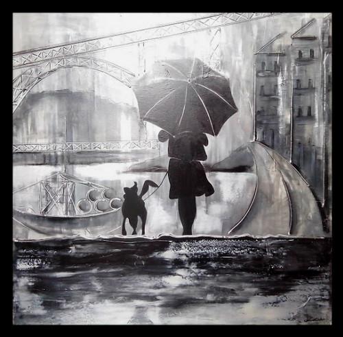 Rain in Oporto city