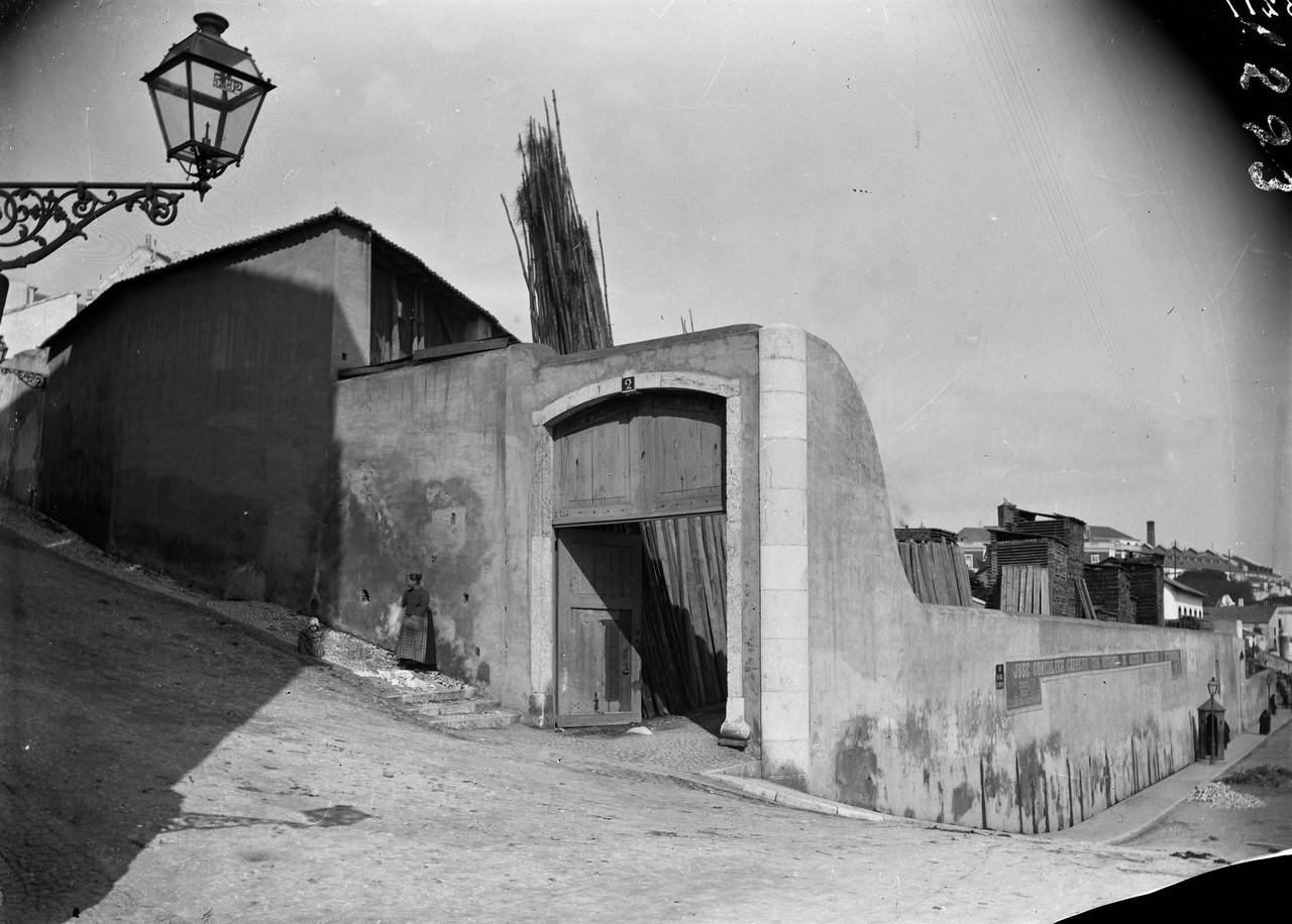 Calçada dos Cesteiros, 1901, foto de Machado & So