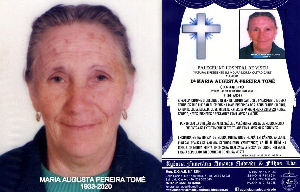 FOTO RIP DE MARIA AUGUSTA PEREIRA TOMÉ-86 ANOS (M