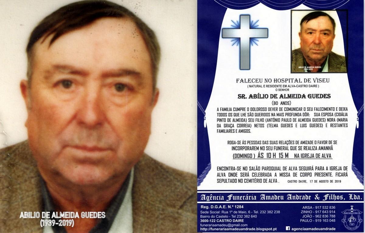 FOTO RIP DE ABILIO DE ALMEIDA GUEDES(80 ANOS ) ALV