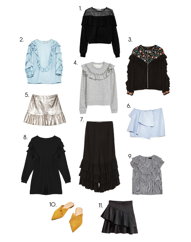 shopping time, blog, blogger, ina, ina the blog, folhos, zara, stradivarius, bershka