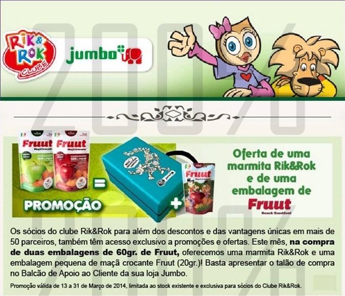 Oferta | JUMBO | Clube RIK&ROK até 31 março