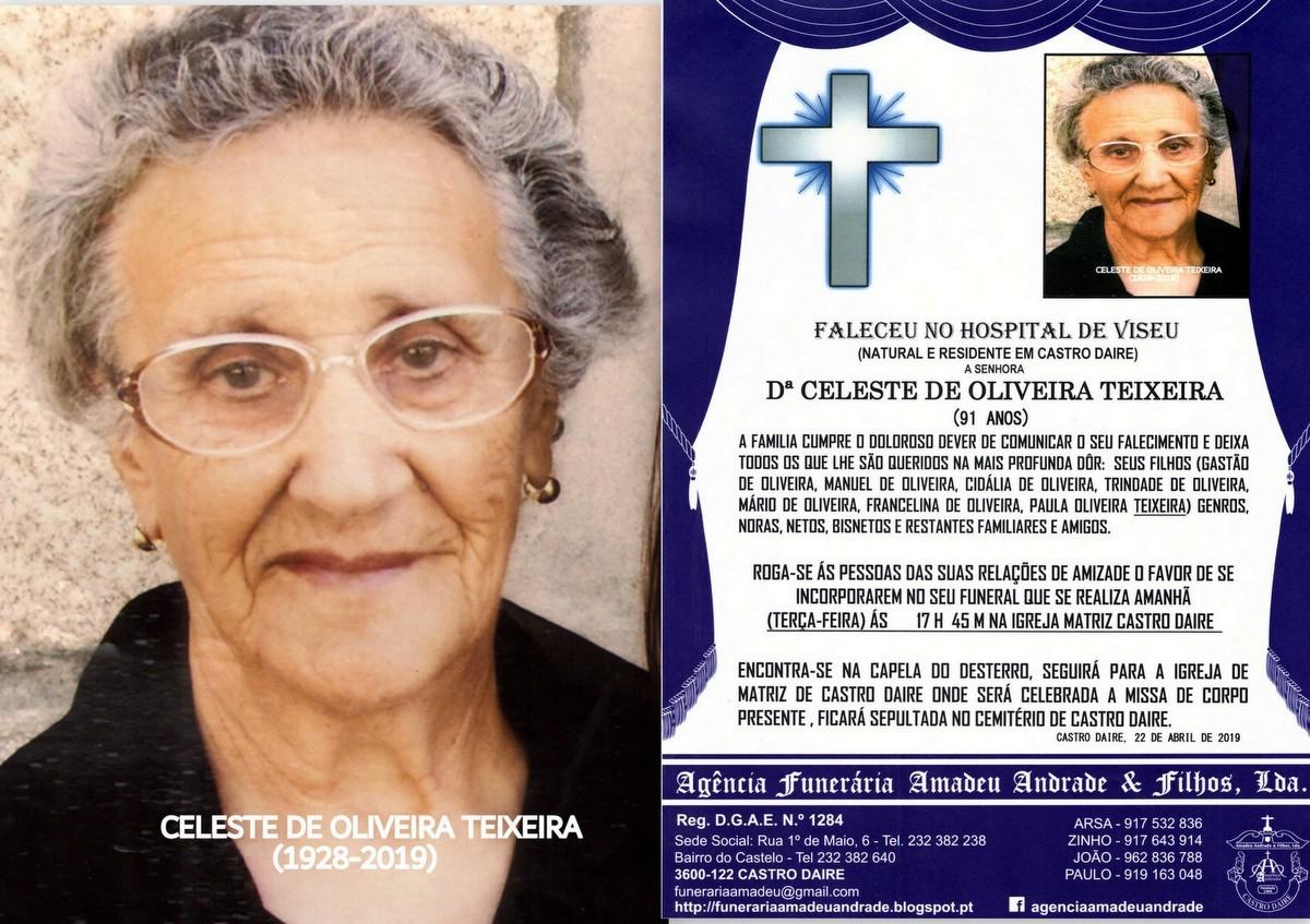FOTO RIP  DE CELESTE DE OLIVEIRA TEIXEIRA-91 ANOS
