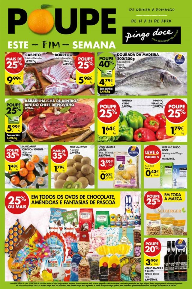 Antevisão Folheto PINGO DOCE Madeira 18 a 21 abri