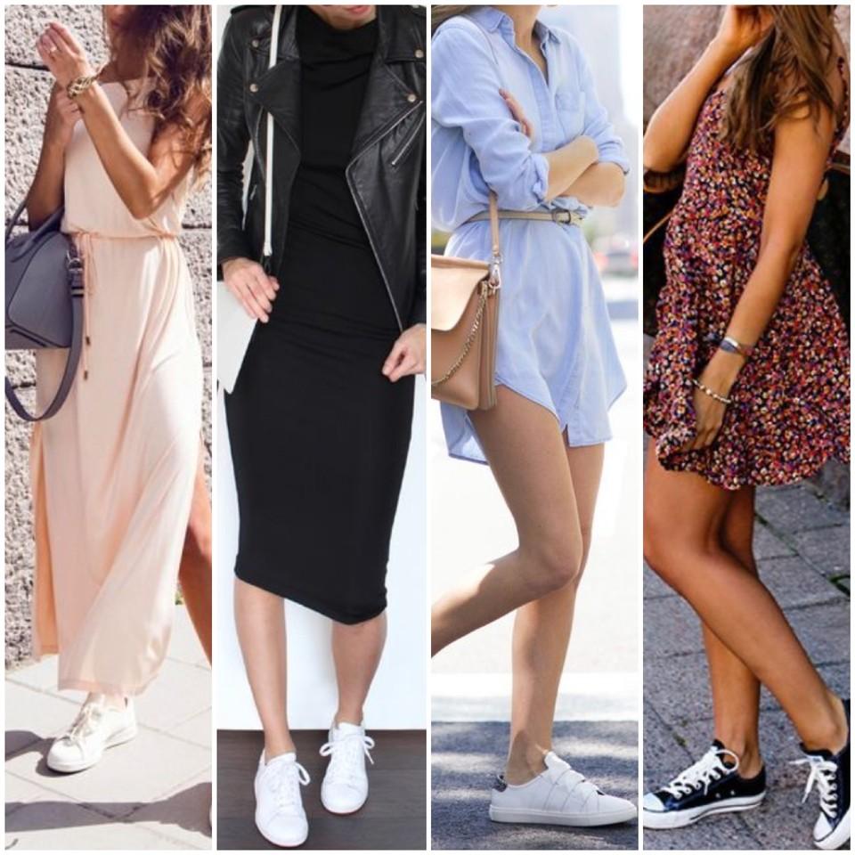 Como usar vestido com tênis