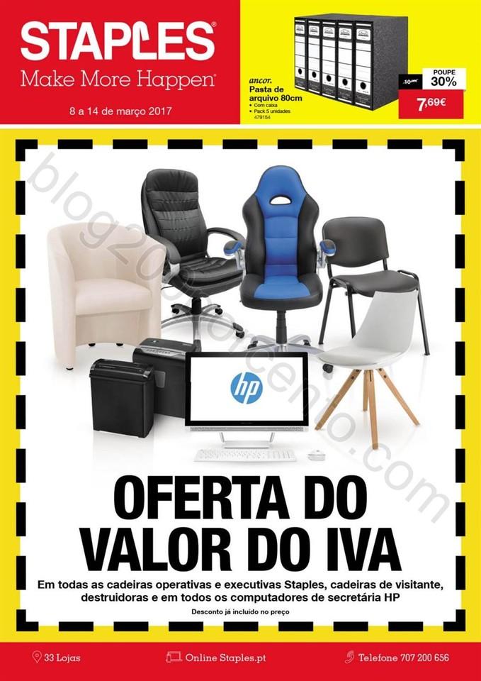 Antevisão Folheto STAPLES Promoções de 8 a 14 m