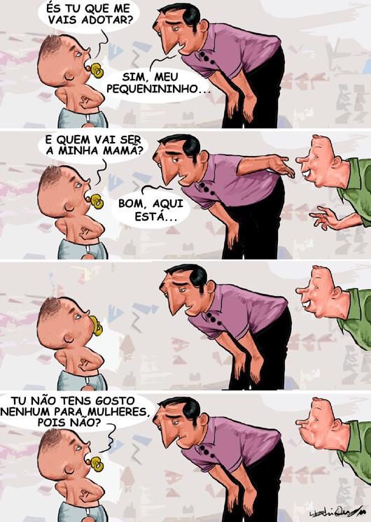 9f0c52d2d8 Adoção gay - HenriCartoon