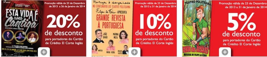 Até 20% desconto | EL CORTE INGLÉS | Teatro e Revista