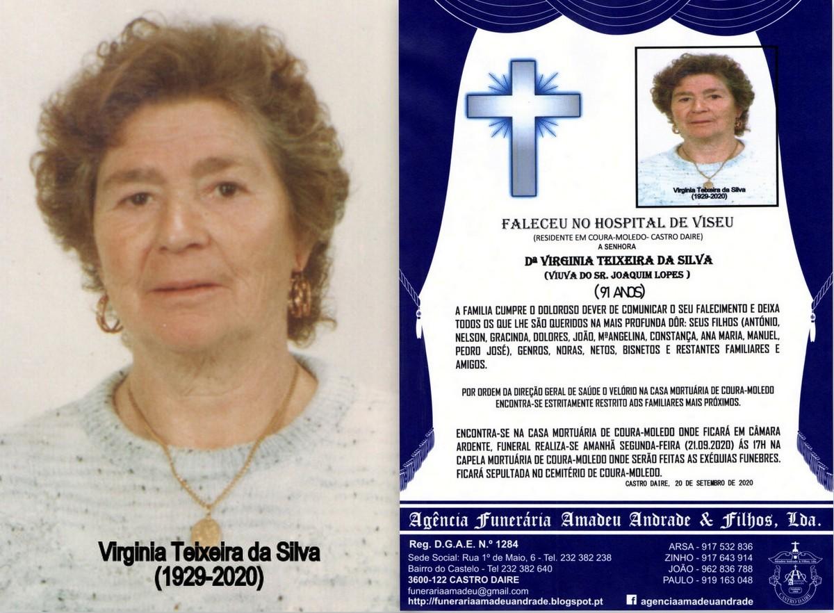FOTO RIP  DE VIRGINIA TEIXEIRA DA SILVA-91 ANOS (C