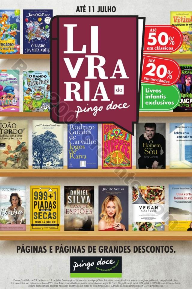 Antevisão Folheto PINGO DOCE Feira Livro promoç