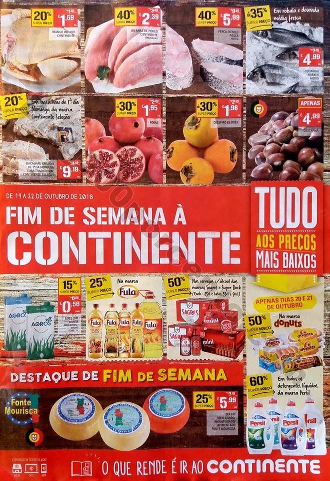 Antevisão folheto Continente Fim Semana 19a22out