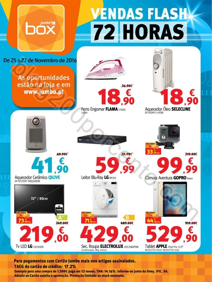 72 horas de descontos BOX - JUMBO de 25 a 27 novem