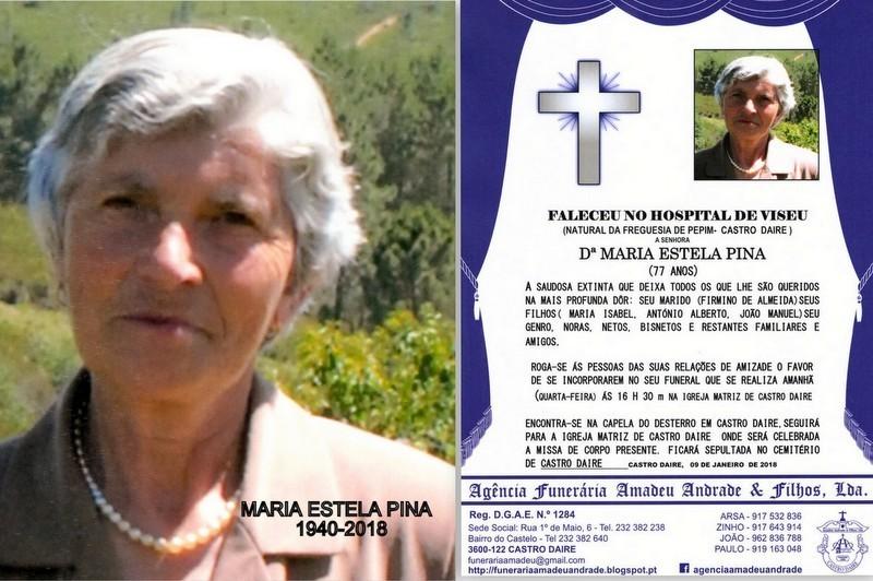 FOTO RIP  -MARIA ESTELA PINA -77 ANOS (CASTRO DAIR