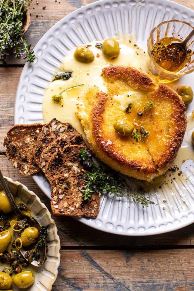 Pan-Fried-Brie-with-Peppered-Honey-and-Olives-4-70