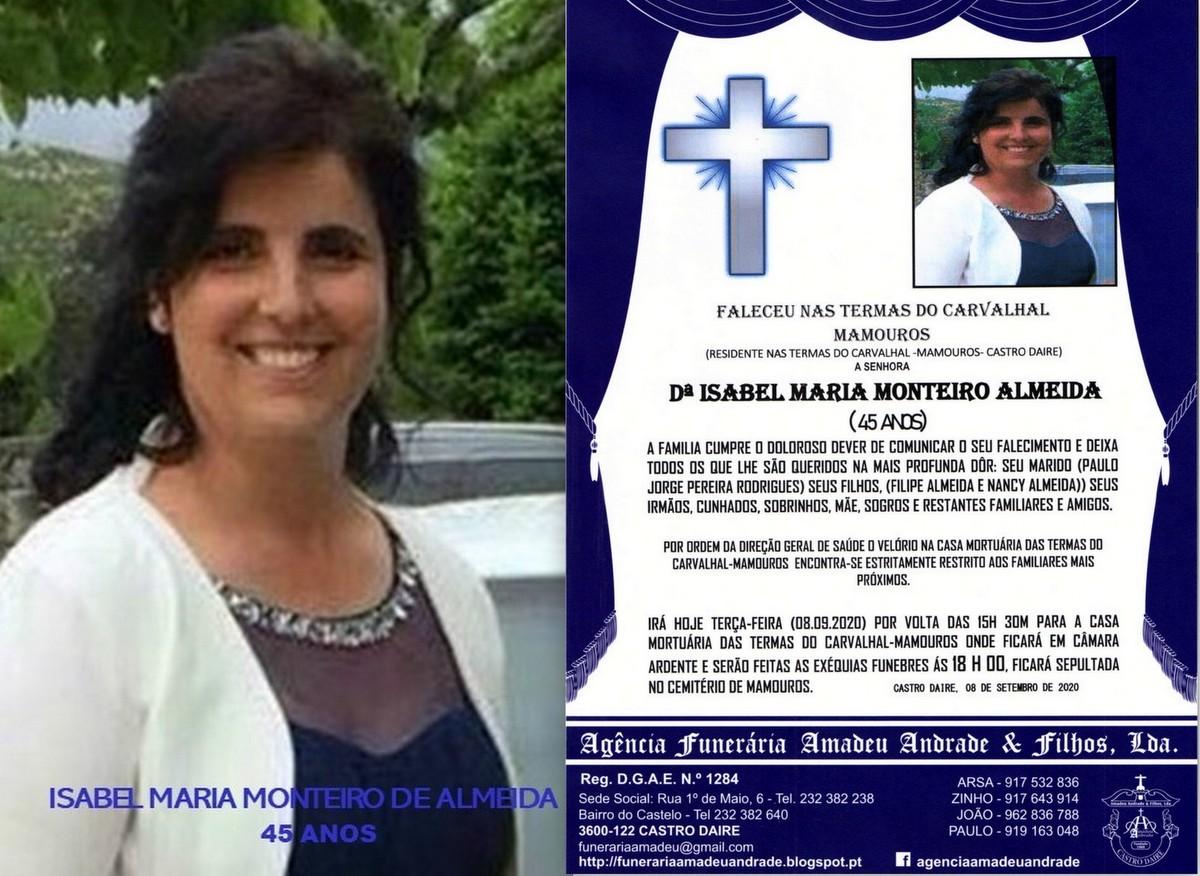 FOTO RIP DE ISABEL MARIA MONTEIRO DE ALMEIDA(1974-