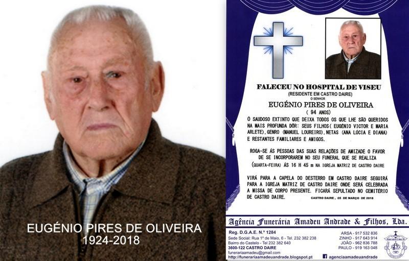FOTO RIP-EUGÉNIO PIRES DE OLIVEIRA 94 ANOS (CASTR