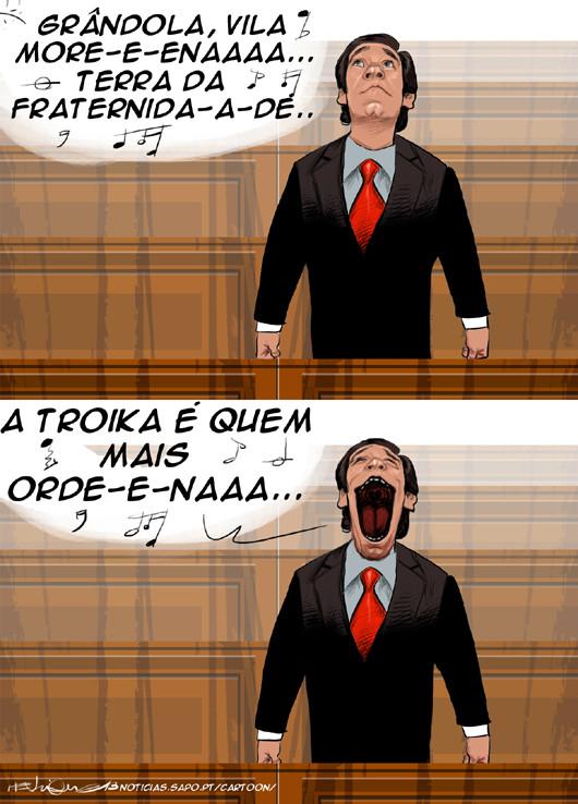 Cartoons - Pedro Passos Coelho canta Grândola Vila Morena