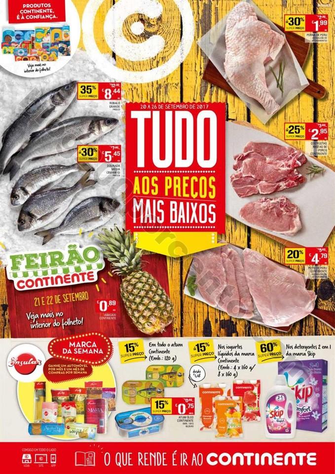 Antevisão Folheto CONTINENTE Promoções de 20 a