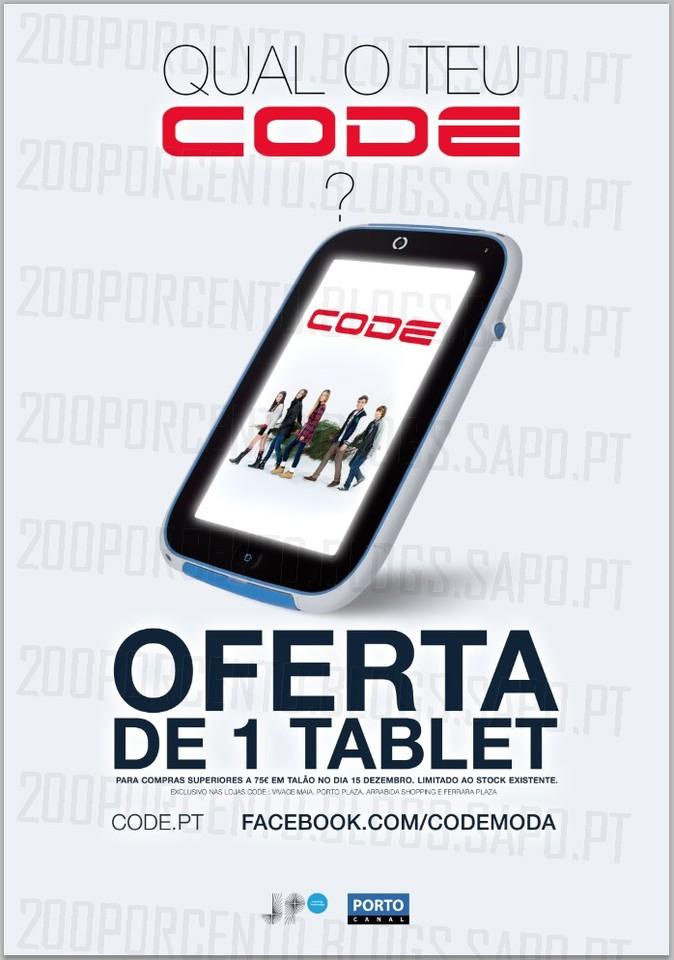 Oferta de Tablet | CODE | apenas Hoje !!, Dia 15 Dezembro, Domingo