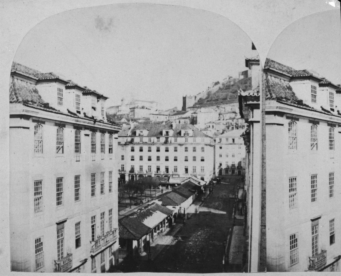 Praça da Figueira, da colecção Conde Arnoso, fo