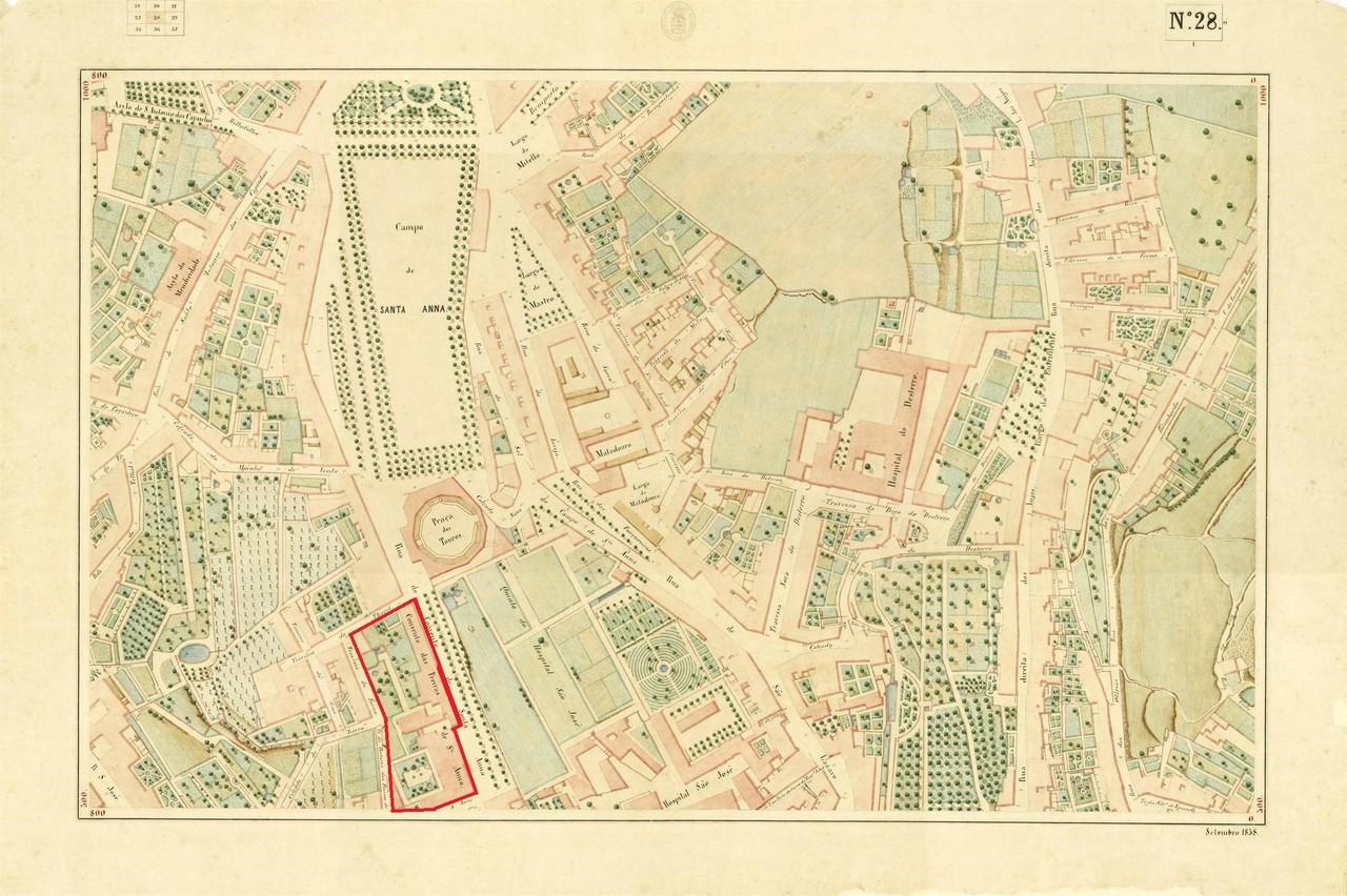 Atlas da carta topográfica de Lisboa, n.º 28, 18
