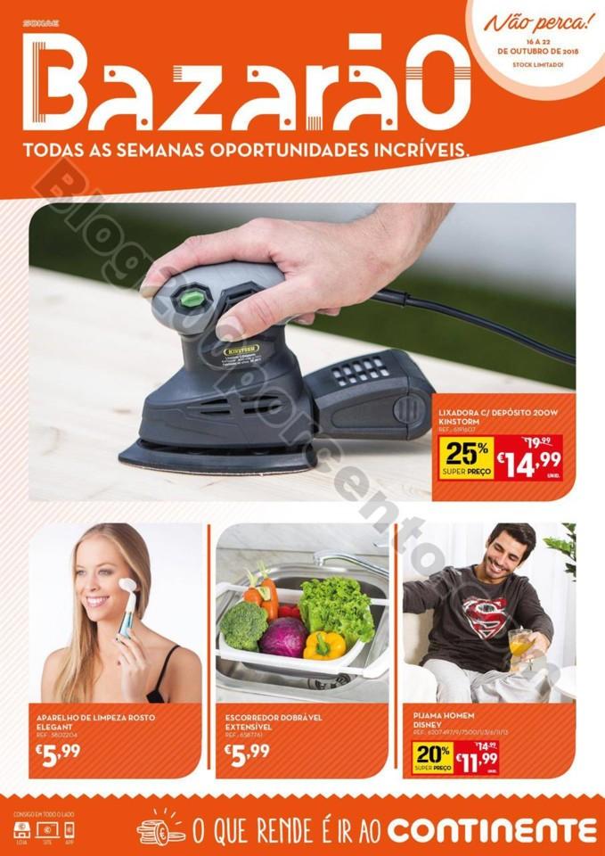Folheto Promoções Continente Bazarão Antevisão 16a22out