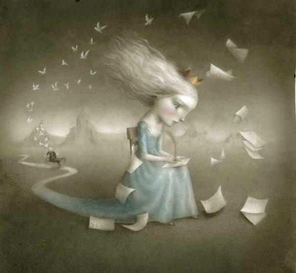 Nicoletta Ceccoli escrever menina poesia.jpg