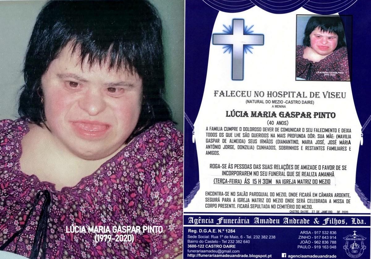 FOTO RIP  DE LÚCIA MARIA GASPAR PINTO-40 ANOS (ME
