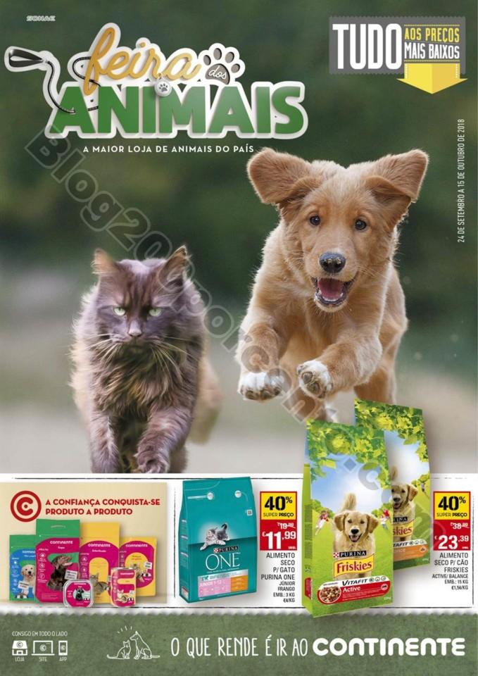 Antevisão Folheto CONTINENTE Feira animal promoç
