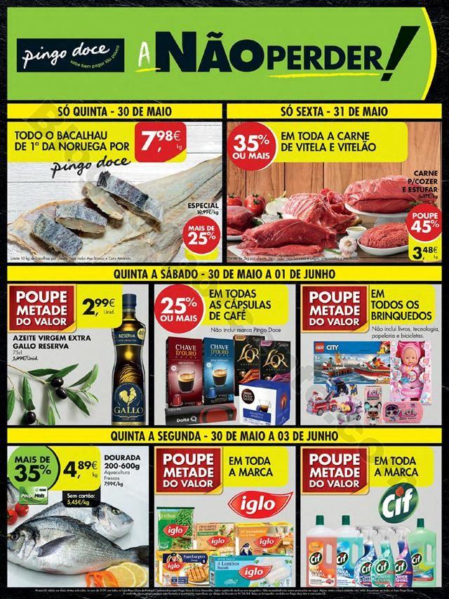 Antevisão Folheto PINGO DOCE Promoções de 30 ma