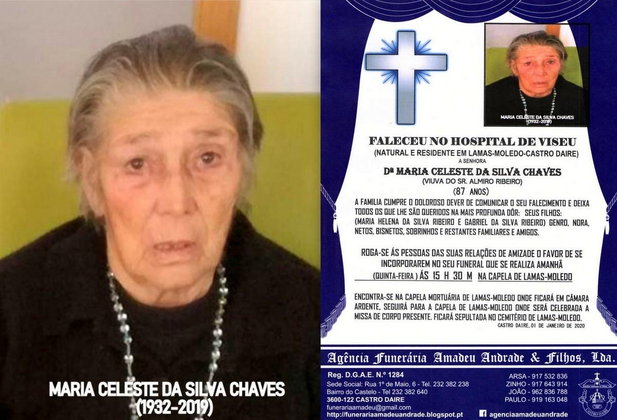 FOTO RIP DE MARIA CELESTE DA SILVA CHAVES-87 ANOS