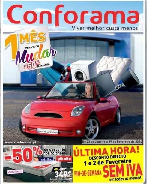 Novo folheto | CONFORAMA | de 23 janeiro a 19 fevereiro