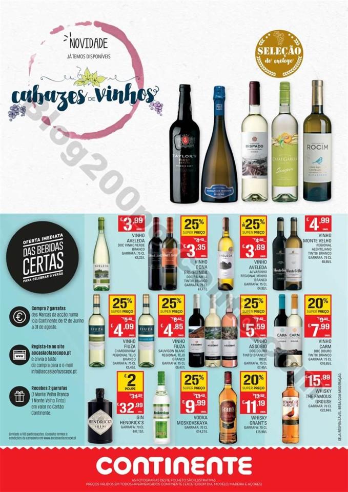 Antevisão Folheto CONTINENTE Vinhos de verão pro