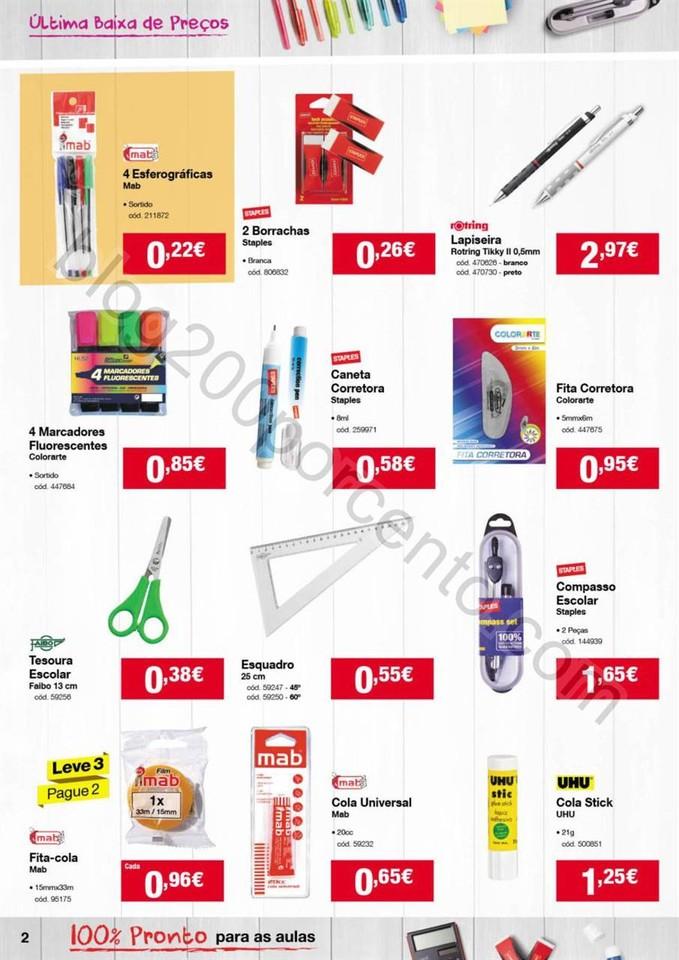 Novo Folheto STAPLES Baixa de preços promoções