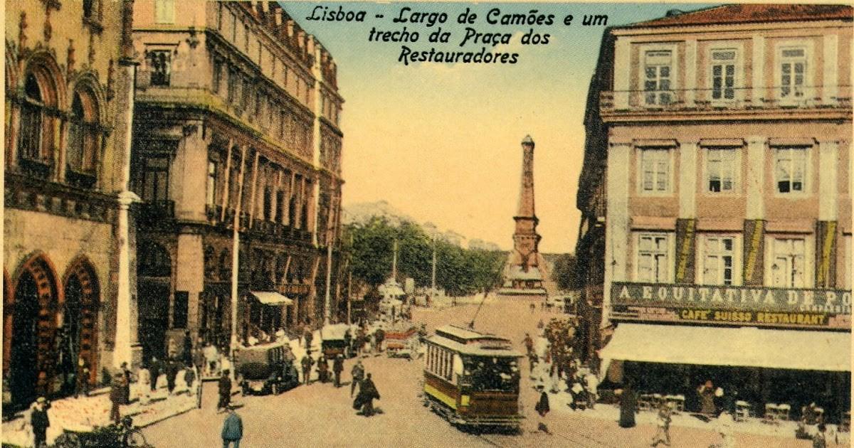postal do Largo de Camões e do Café Suisso1.jpg