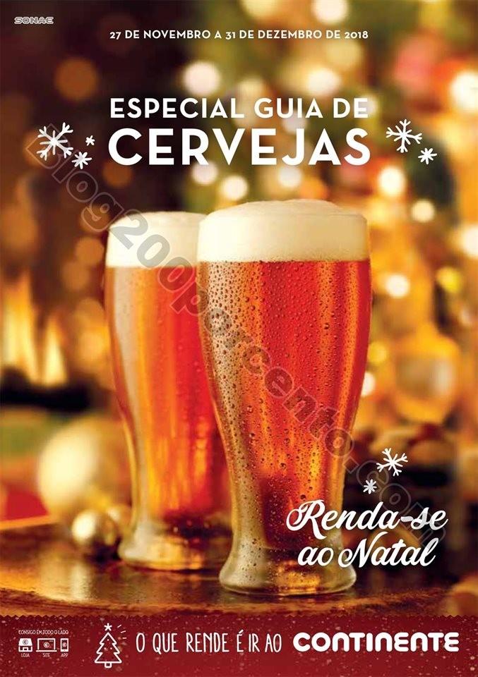 Antevisão Folheto CONTINENTE Cervejas 27 novembro