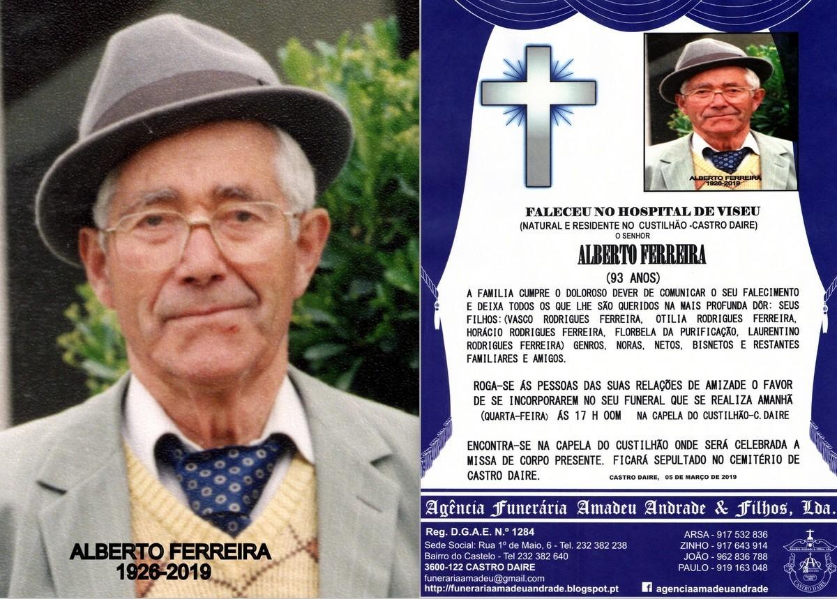 RIP FOTO -ALBERTO FERREIRA -93 ANOS (CUSTILHÃO).j