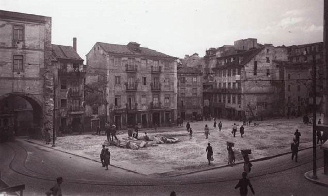 Local onde existiu o Palácio do Marquês de Alegr