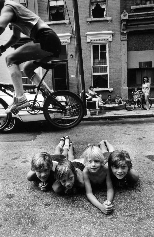 Stephen Shames, Bike Jump, from series Outside the