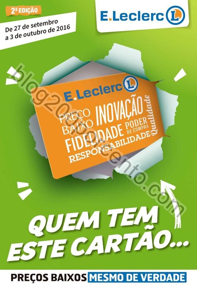 Antevisão Folheto E-LECLERC Promoções de 27 set