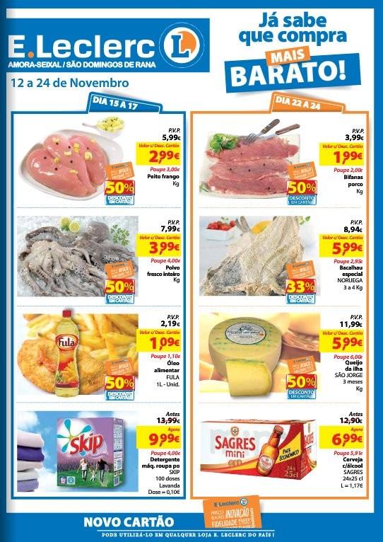 Antevisão folheto   E-LECLERC   S. Domingo de Rana de 12 a 24 novembro