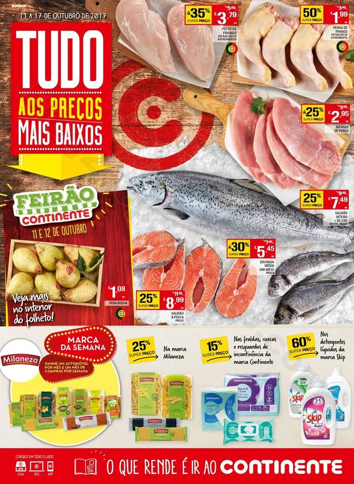 Antevisão Folheto Continente Madeira 11 a 17 outu