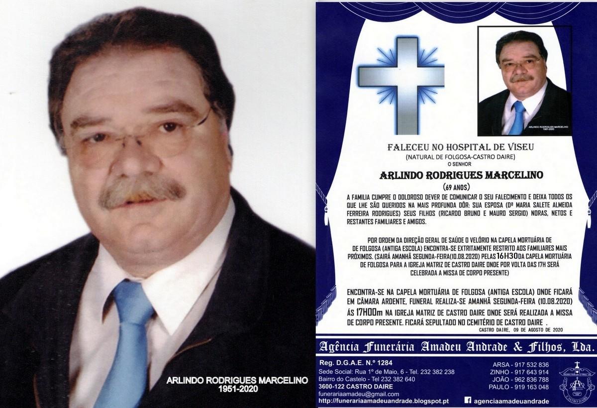 FOTO RIP  DE ARLINDO RODRIGUES MARCELINO 69 ANOS (