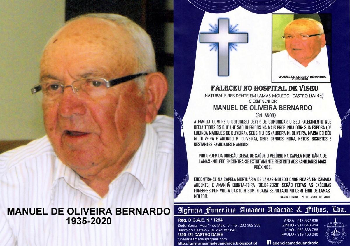 FOTO DE MANUEL DE OLIVEIRA BERNARDO-84 ANOS (LAMAS
